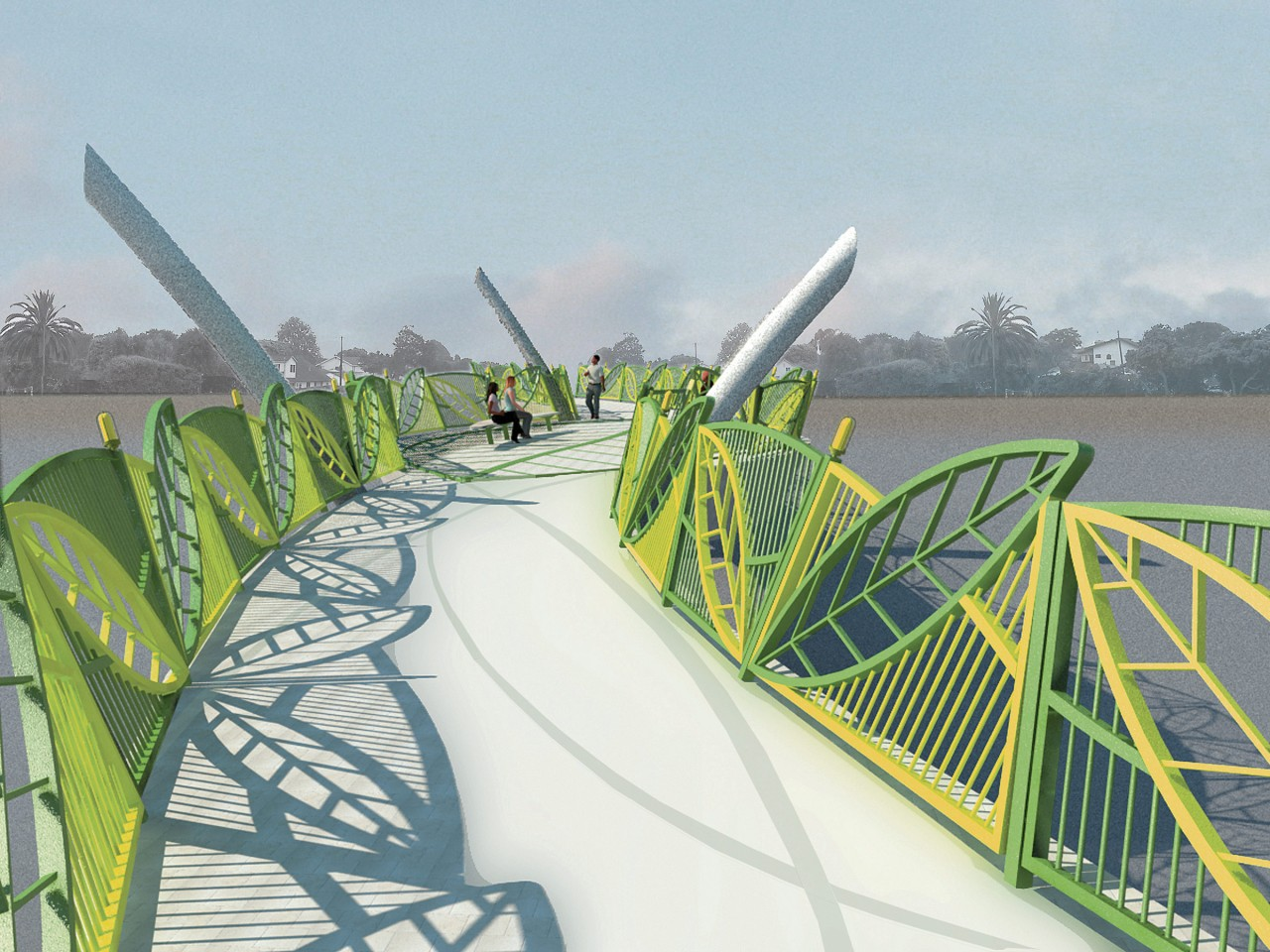 Leaf Bridge, Culver City, California / image 1